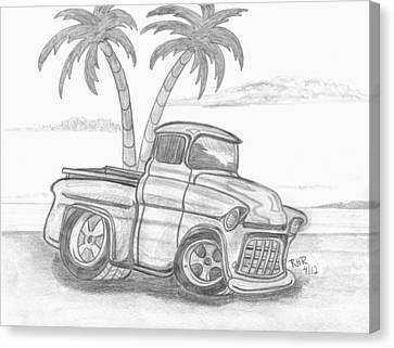Chevy Beach Canvas Print by Ray Ratzlaff