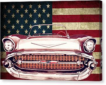 Chevy Bel Air 57 Canvas Print by Diego Abelenda