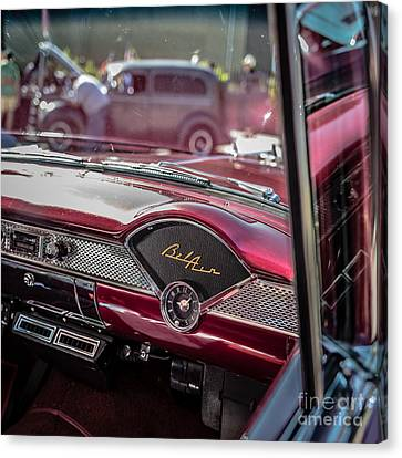 Chevy Bel Air Dash Canvas Print by Edward Fielding