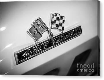 Chevy Corvette 427 Turbo-jet Emblem Canvas Print
