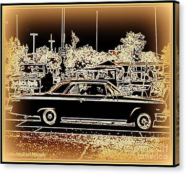 Chevy Glow Canvas Print by Bobbee Rickard