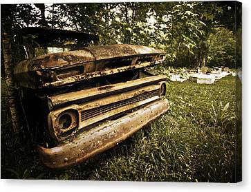 Chevy Graveyard Canvas Print by Andy Crawford