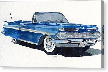 Chevy Impala Canvas Print by Eva Ason