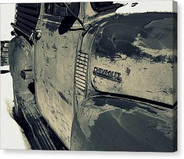 Chevy In Silver Canvas Print by Gia Marie Houck