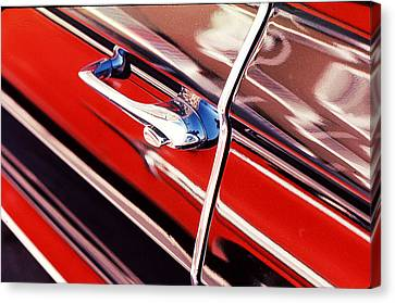 Canvas Print featuring the photograph Chevy Or Caddie? by Ira Shander