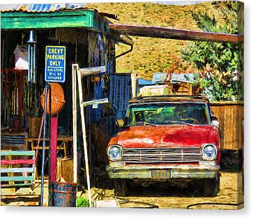Chevy Parking Only Canvas Print