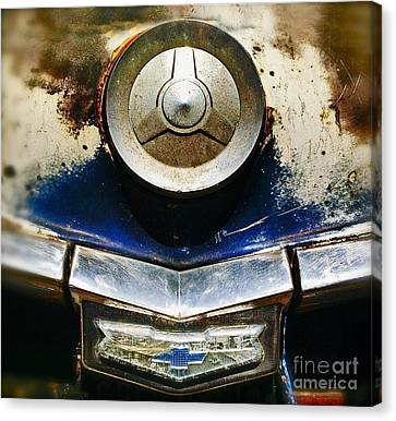 Chevy Picking Canvas Print by Gwyn Newcombe