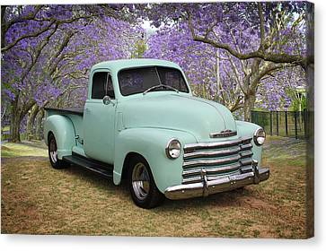 Canvas Print featuring the photograph Chevy Pickup by Keith Hawley