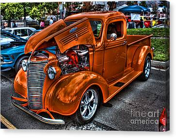 Chevy Pickup Street Rod Canvas Print by Tommy Anderson