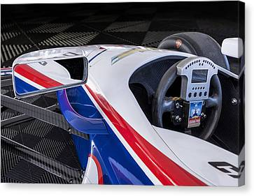 Chevy Powered Indy Car Detail Canvas Print by Gary Warnimont