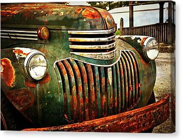 Chevy Truck Canvas Print by Marty Koch