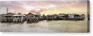 Chew Jetty Heritage Site In Penang Canvas Print by Jit Lim