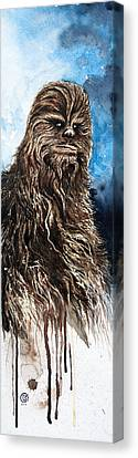 Stars Canvas Print - Chewbacca by David Kraig