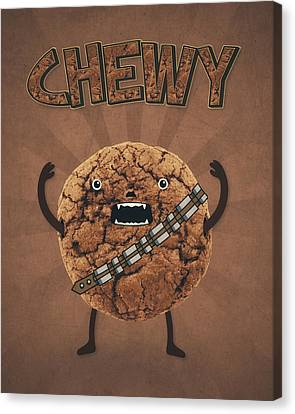 Star Evolution Canvas Print - Chewy Chocolate Cookie Wookiee by Philipp Rietz