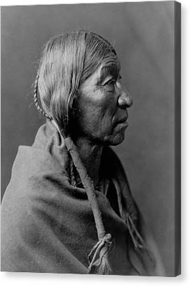Indigenous Canvas Print - Cheyenne Indian Woman Circa 1910 by Aged Pixel