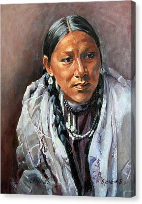 Cheyenne Woman Canvas Print