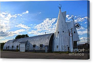 Cheyenne Wyoming Teepee - 01 Canvas Print by Gregory Dyer