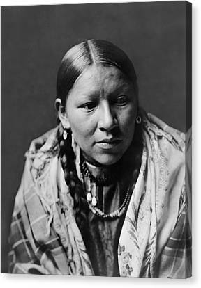 Indigenous Canvas Print - Cheyenne Young Woman Circa 1910 by Aged Pixel