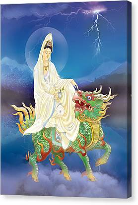 Canvas Print featuring the photograph Chi Lin Kuan Yin by Lanjee Chee
