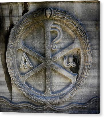 Byzantine Canvas Print - Chi Rho by Stephen Stookey