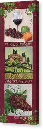 Grape Vines Canvas Print - Chianti And Friends Collage 1 by Debbie DeWitt