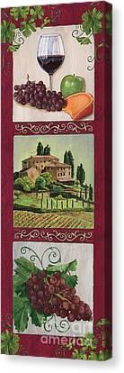 Vine Grapes Canvas Print - Chianti And Friends Collage 1 by Debbie DeWitt