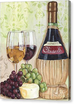 Wine Bottle Canvas Print - Chianti And Friends by Debbie DeWitt