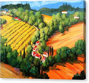 Chianti Road Canvas Print