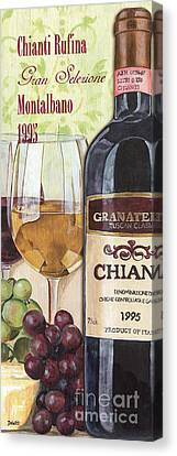 Wine Glasses Canvas Print - Chianti Rufina by Debbie DeWitt