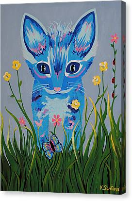 Canvas Print featuring the painting Chibi by Kathleen Sartoris