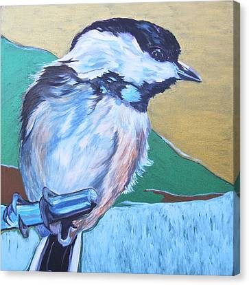 Chicadee Canvas Print by Jamie Downs
