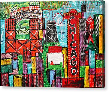 Chicago - City Of Fun - Sold Canvas Print