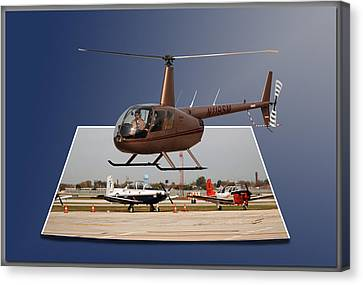Chicago 08 Helicopter Landing Canvas Print