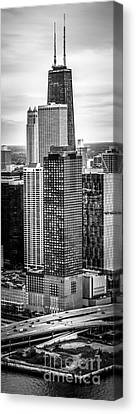 Chicago Aerial Vertical Panorama Photo Canvas Print by Paul Velgos