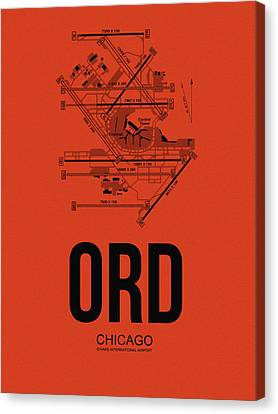 Metropolitan Canvas Print - Chicago Airport Poster 1 by Naxart Studio