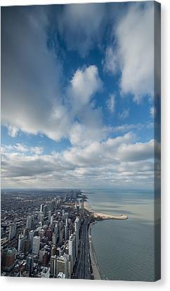Chicago Aloft Canvas Print by Steve Gadomski
