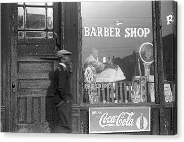 Chicago Barber Shop, 1941 Canvas Print by Granger
