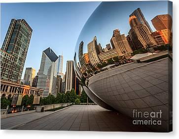 Chicago Bean Cloud Gate Sculpture Reflection Canvas Print