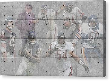 Chicago Bears Legends Canvas Print by Joe Hamilton