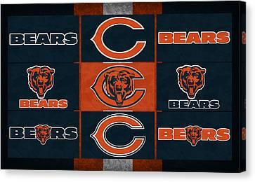 Chicago Bears Uniform Patches Canvas Print by Joe Hamilton