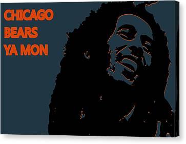 Drum Canvas Print - Chicago Bears Ya Mon by Joe Hamilton