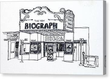 Chicago Biograph Theater Canvas Print by Robert Birkenes