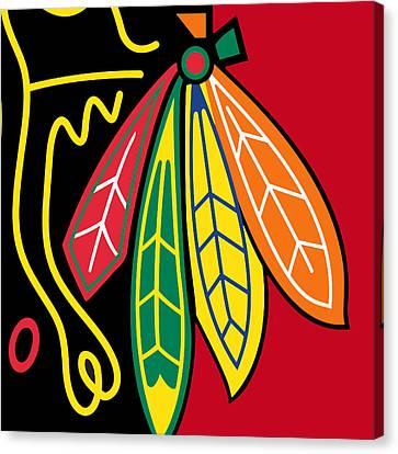Nhl Canvas Print - Chicago Blackhawks 2 by Tony Rubino