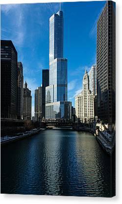 Canvas Print featuring the photograph Chicago Blues by Georgia Mizuleva