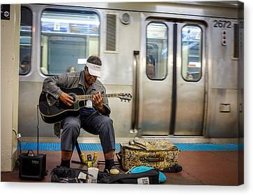Chicago Bluesman Canvas Print