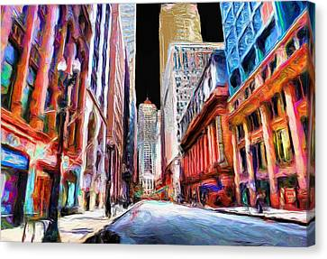 Chicago Board Of Trade  Canvas Print by Ely Arsha