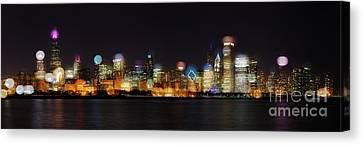 Chicago Bokeh Canvas Print
