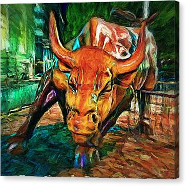 Chicago Bull Statue Canvas Print