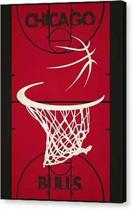 Chicago Bulls Court Canvas Print by Joe Hamilton