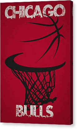 Chicago Bulls Hoop Canvas Print by Joe Hamilton
